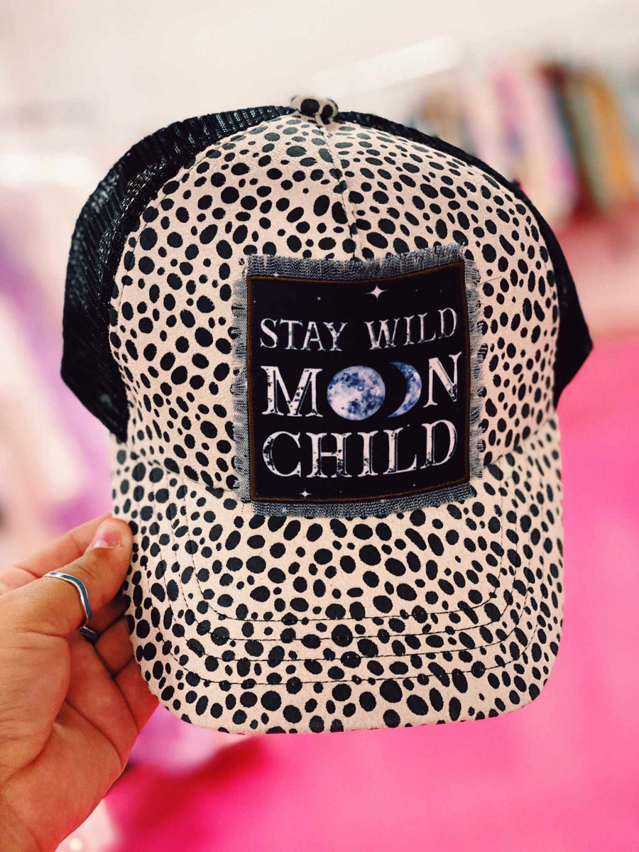 Moon Child Trucker Hat-Hats-Southern Fried Chics