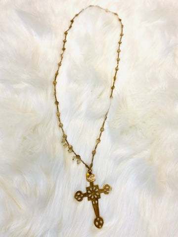 Orleans Chain and Cross Pendant