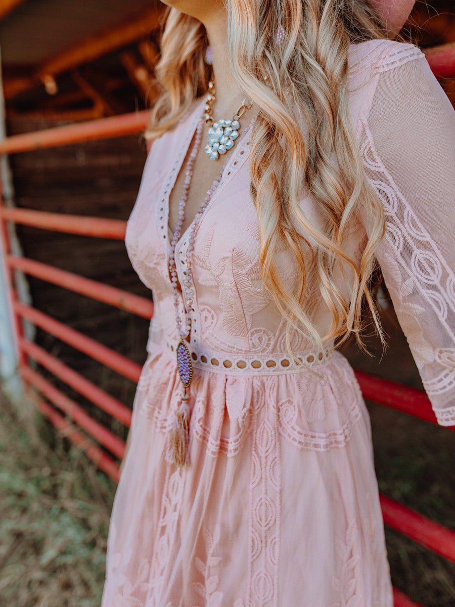 The Twyla Dress - Peach-Dresses-Southern Fried Chics