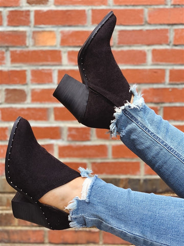 Lilly Studded Bootie - Black