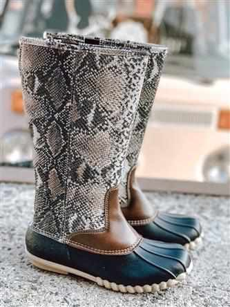 Autumn Boot - Taupe Combo