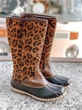 Autumn Leopard Boot