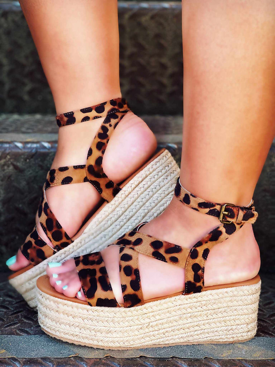 Emerson Leopard Print Platform Sandal-Sandals-Southern Fried Chics