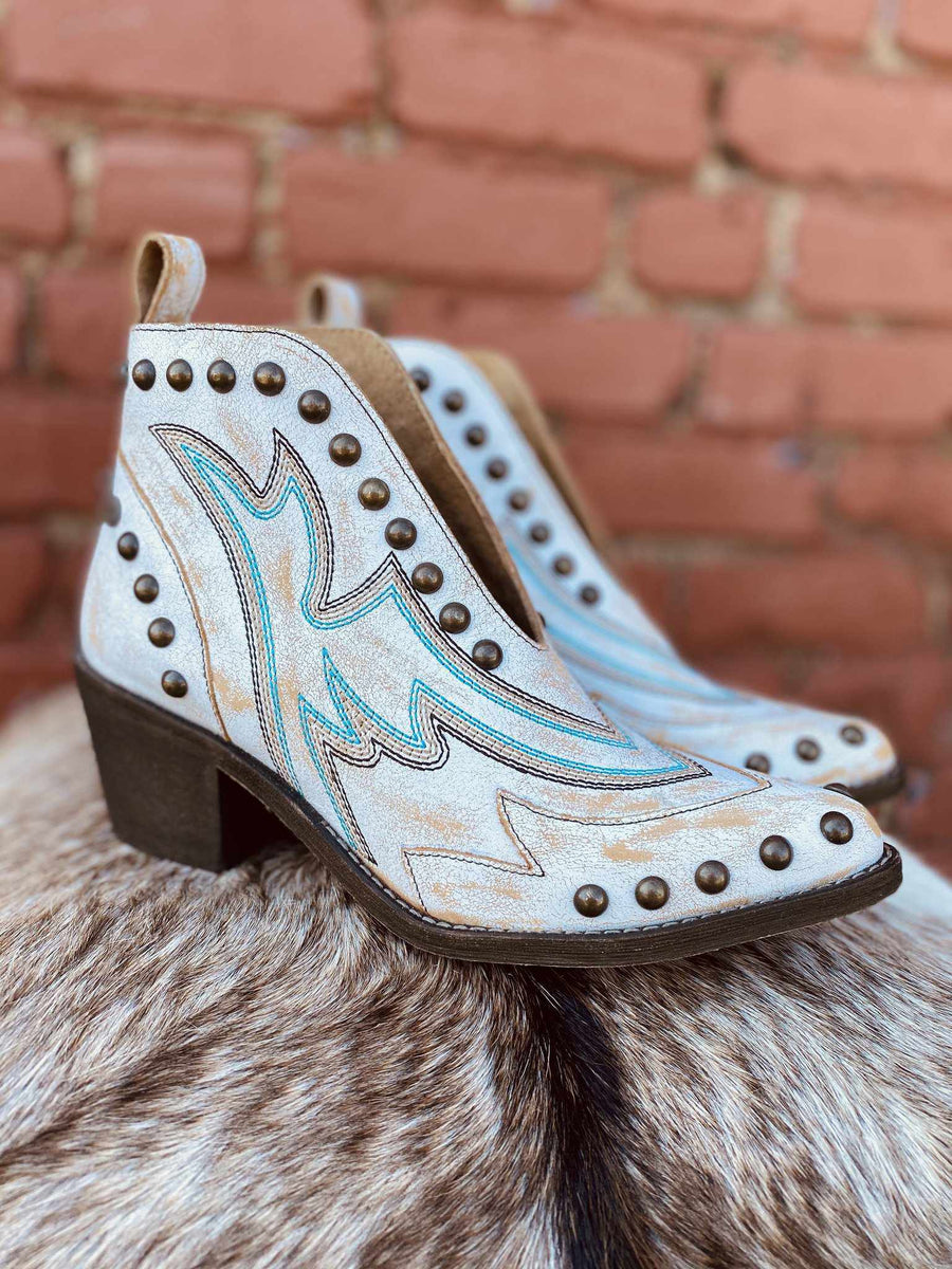 White Studs Bootie by Circle G by Corral-Southern Fried Chics