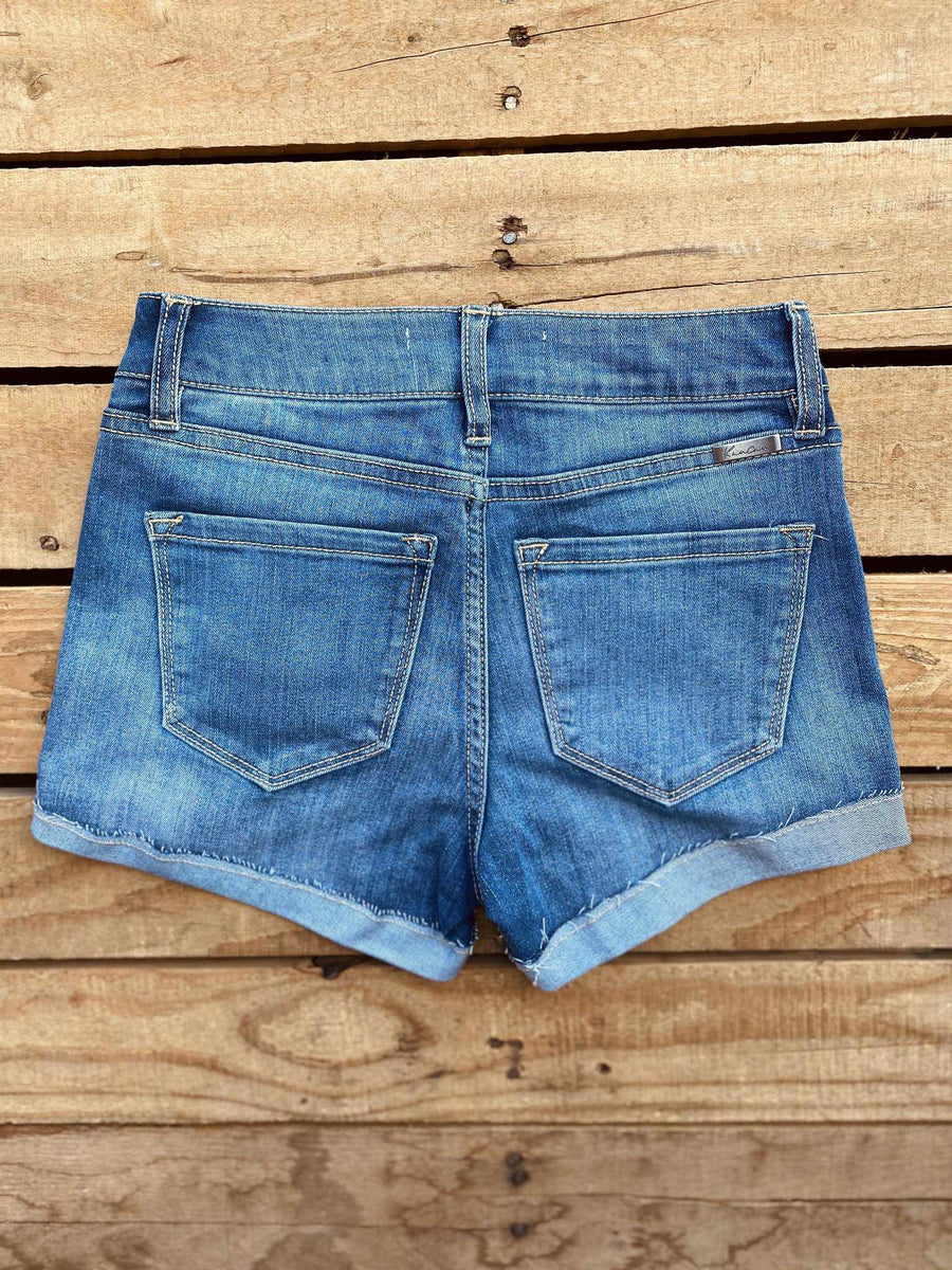 Hazel Mid Rise Shorts - Medium-Southern Fried Chics