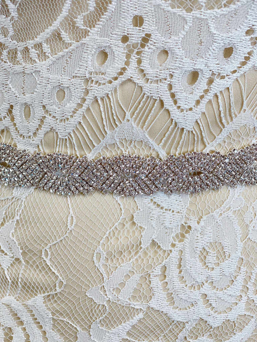 Cutout Crystal Sash Belt-Southern Fried Chics