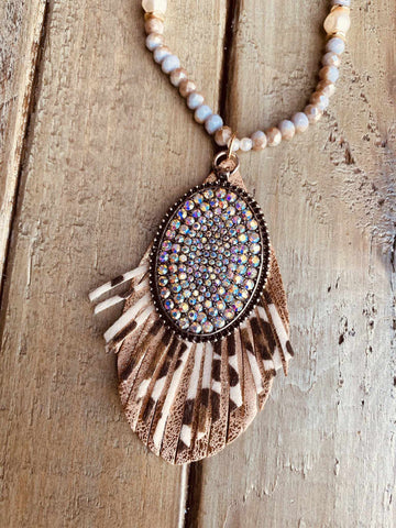 On The Fringe Necklace-Southern Fried Chics