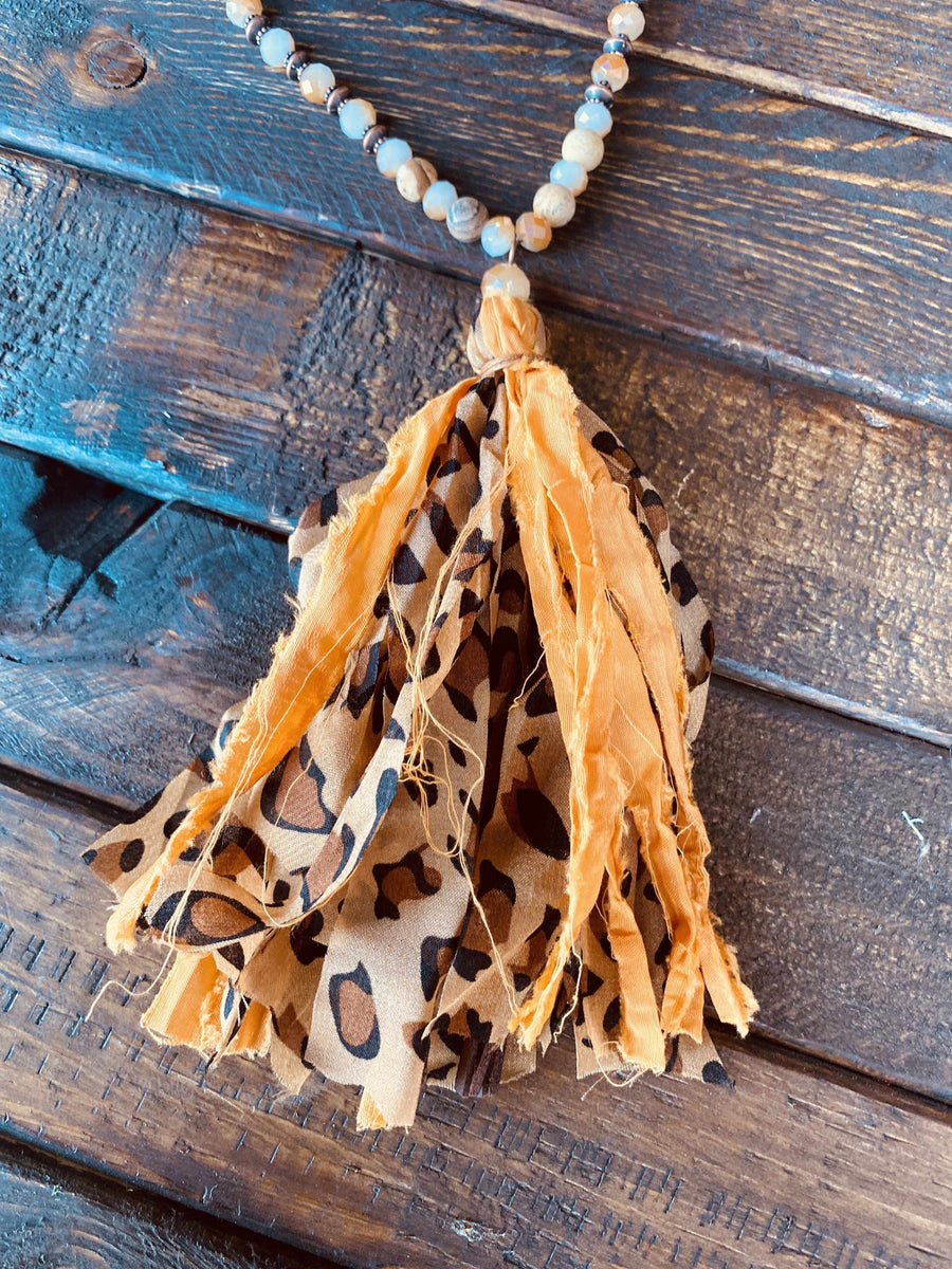 Leila Tassel Necklace-Southern Fried Chics