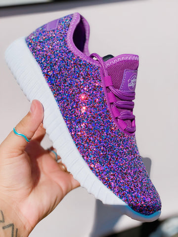 Glitter Bomb Sneakers - Fuchsia-Sneaker-Southern Fried Chics