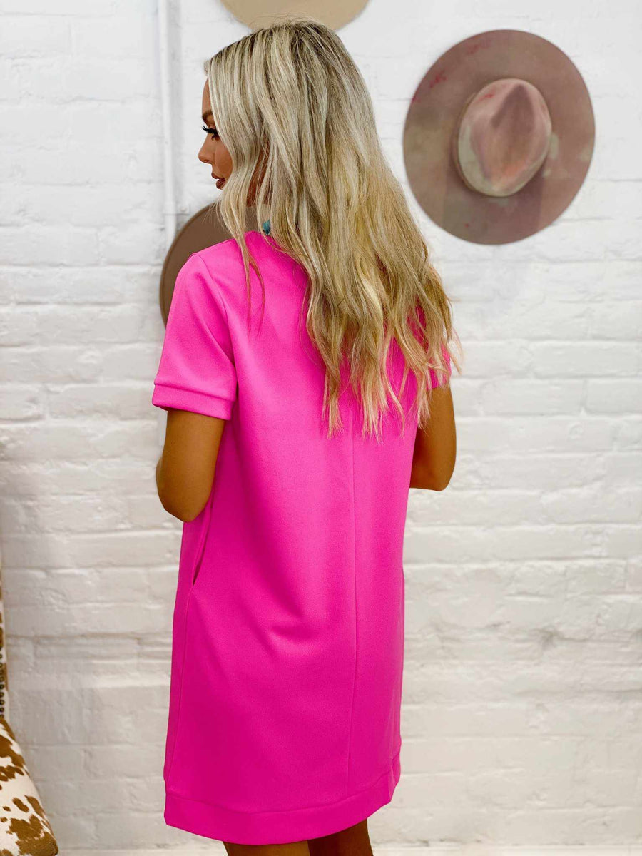 Once A Day Dress - Fuchsia-Southern Fried Chics