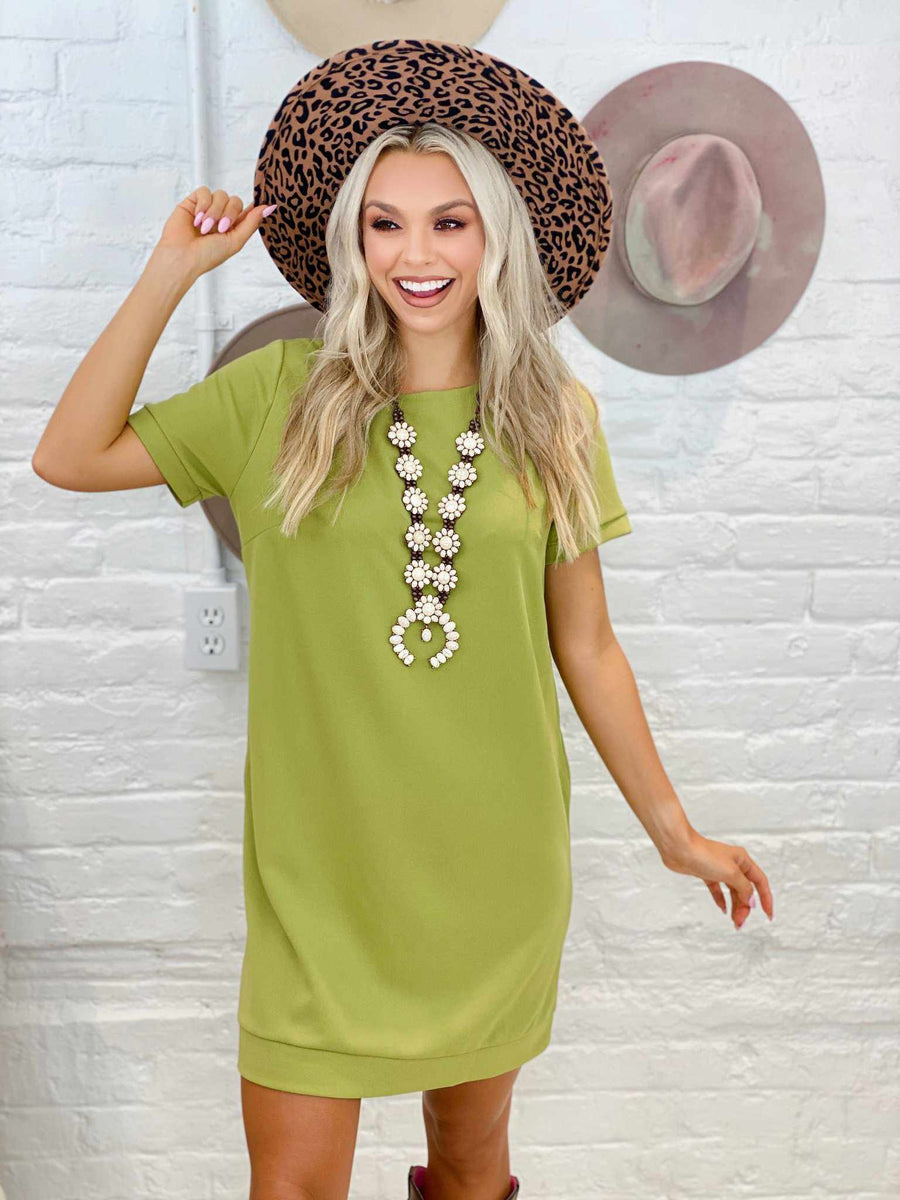 Once A Day Dress - Moss-Southern Fried Chics
