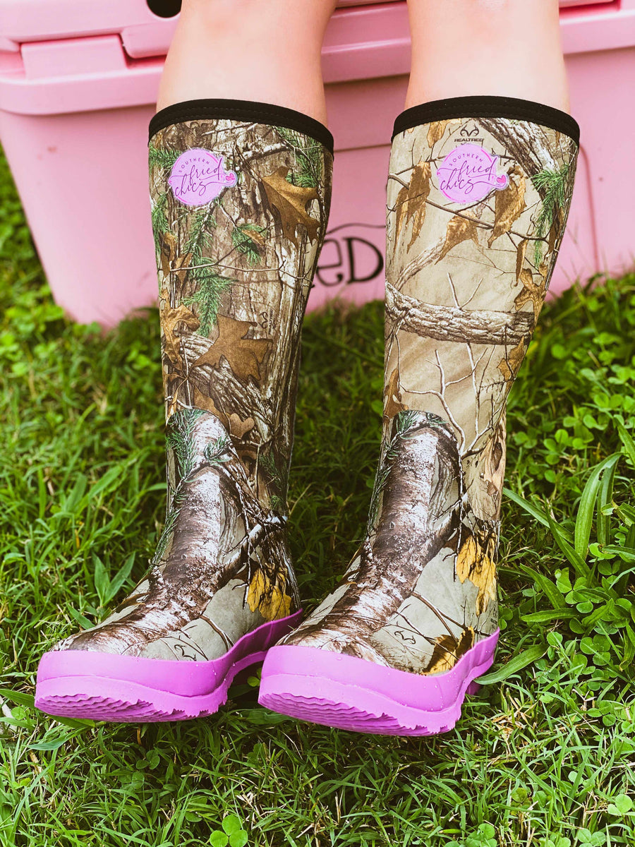 Pretty in Camo Boots - Pink-Southern Fried Chics