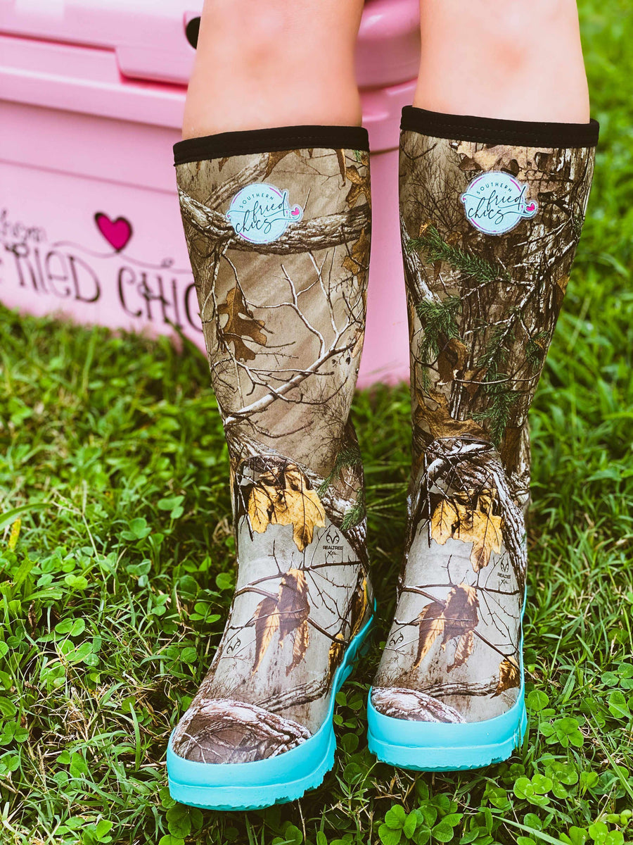 Pretty in Camo Boots - Mint-Southern Fried Chics