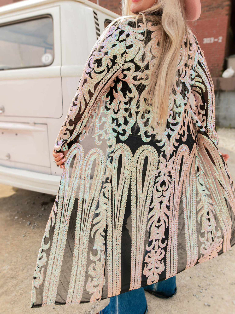 The Royal Sequin Duster - Bubblegum-Dusters-Southern Fried Chics