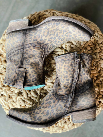 Leopard Print Bootie by Corral-Southern Fried Chics