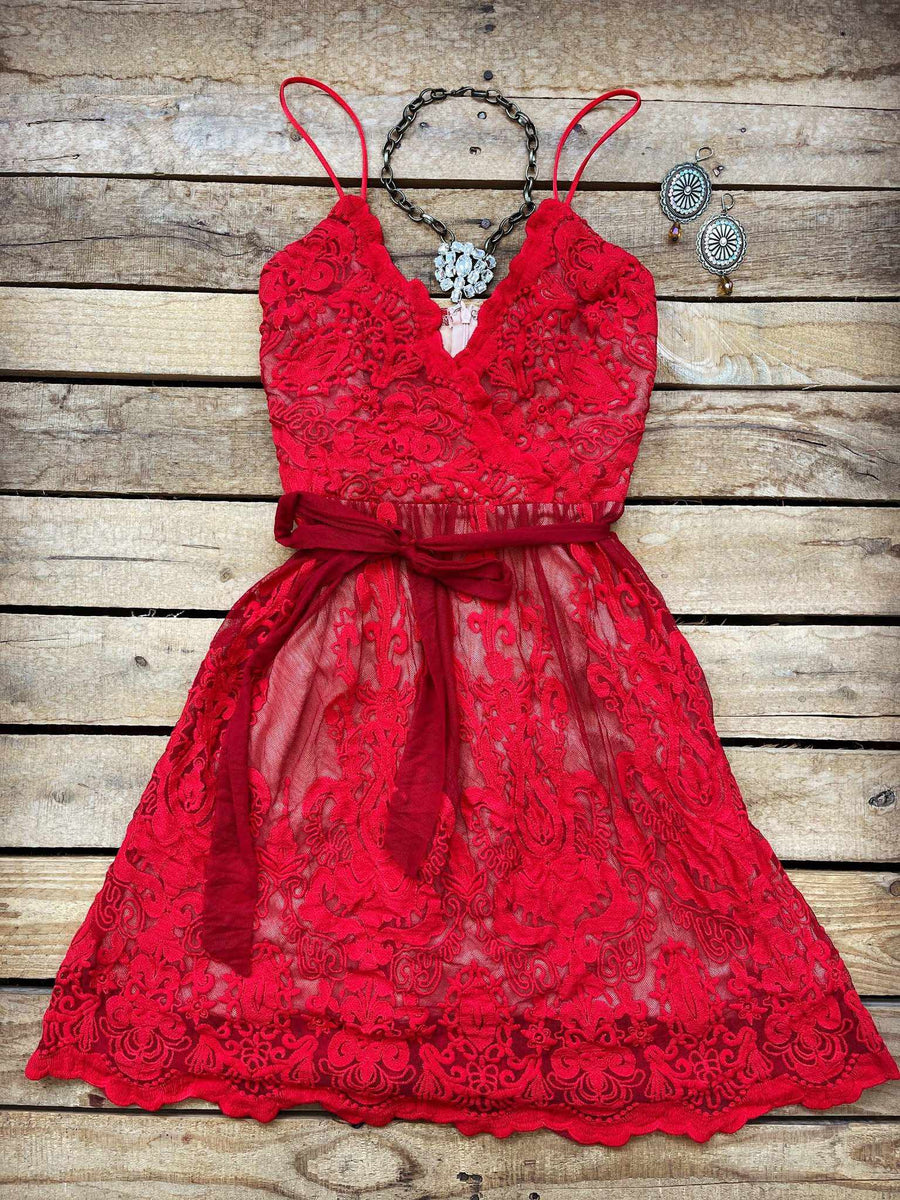 The Audine Dress - Red