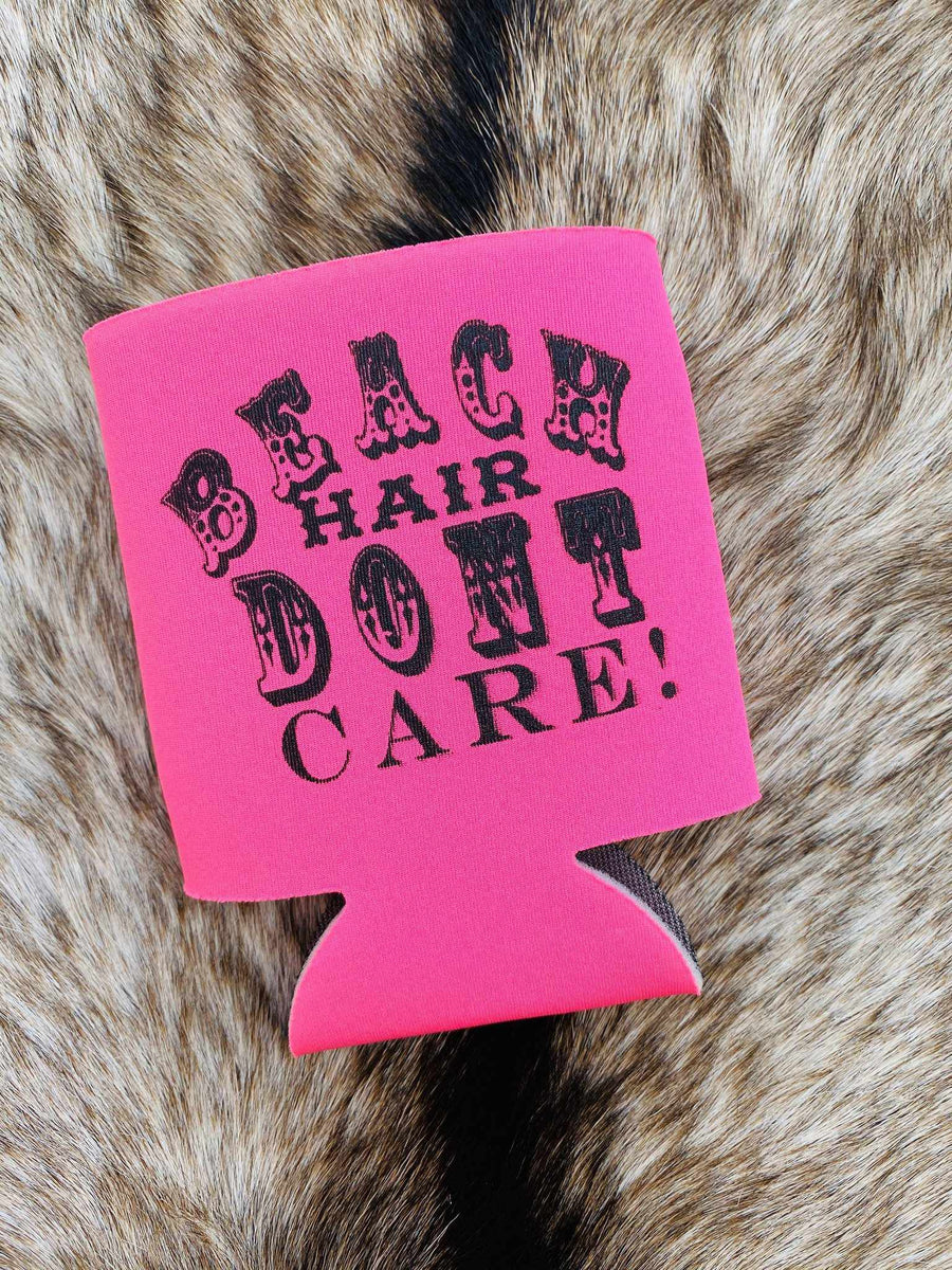 Beach Hair Koozie - Pink-Southern Fried Chics