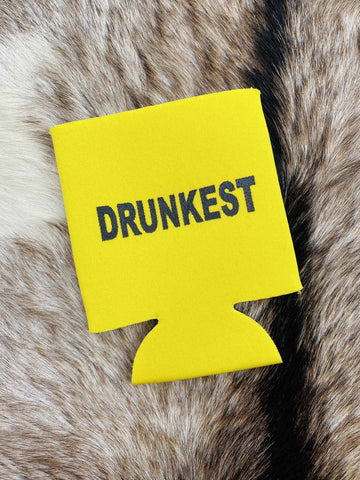 Drunkest Koozie - Yellow-Southern Fried Chics