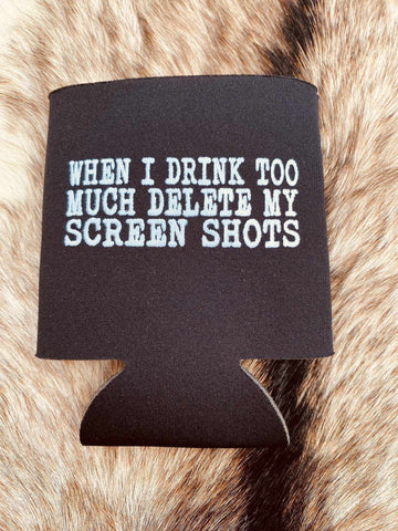 Screen Shots Koozie - Black-Southern Fried Chics