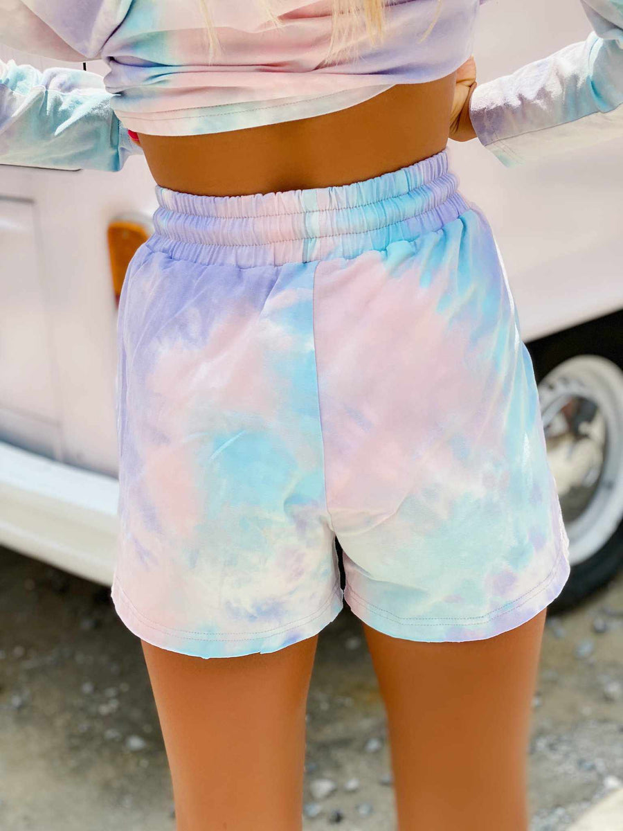 Cotton Candy Tie Dye Lounge Shorts
