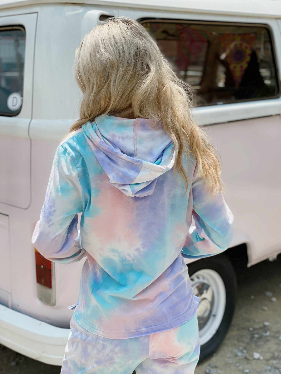 Cotton Candy Tie Dye Lounge Hoodie-Southern Fried Chics