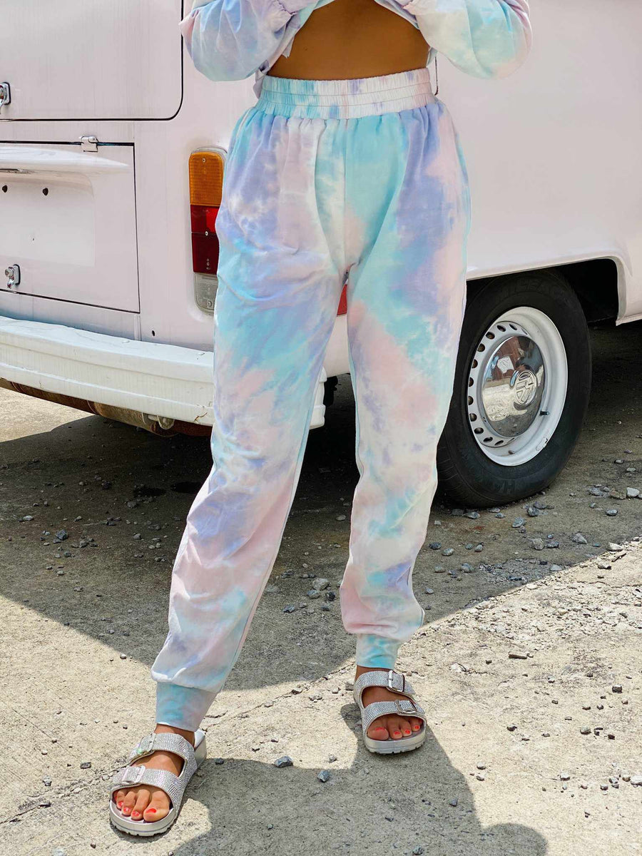 Cotton Candy Tie Dye Lounge Joggers-Southern Fried Chics