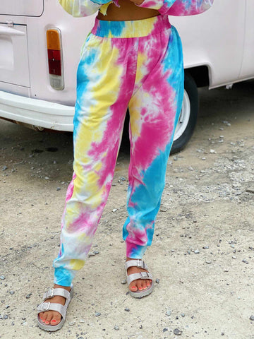 Bright Tie Dye Lounge Joggers