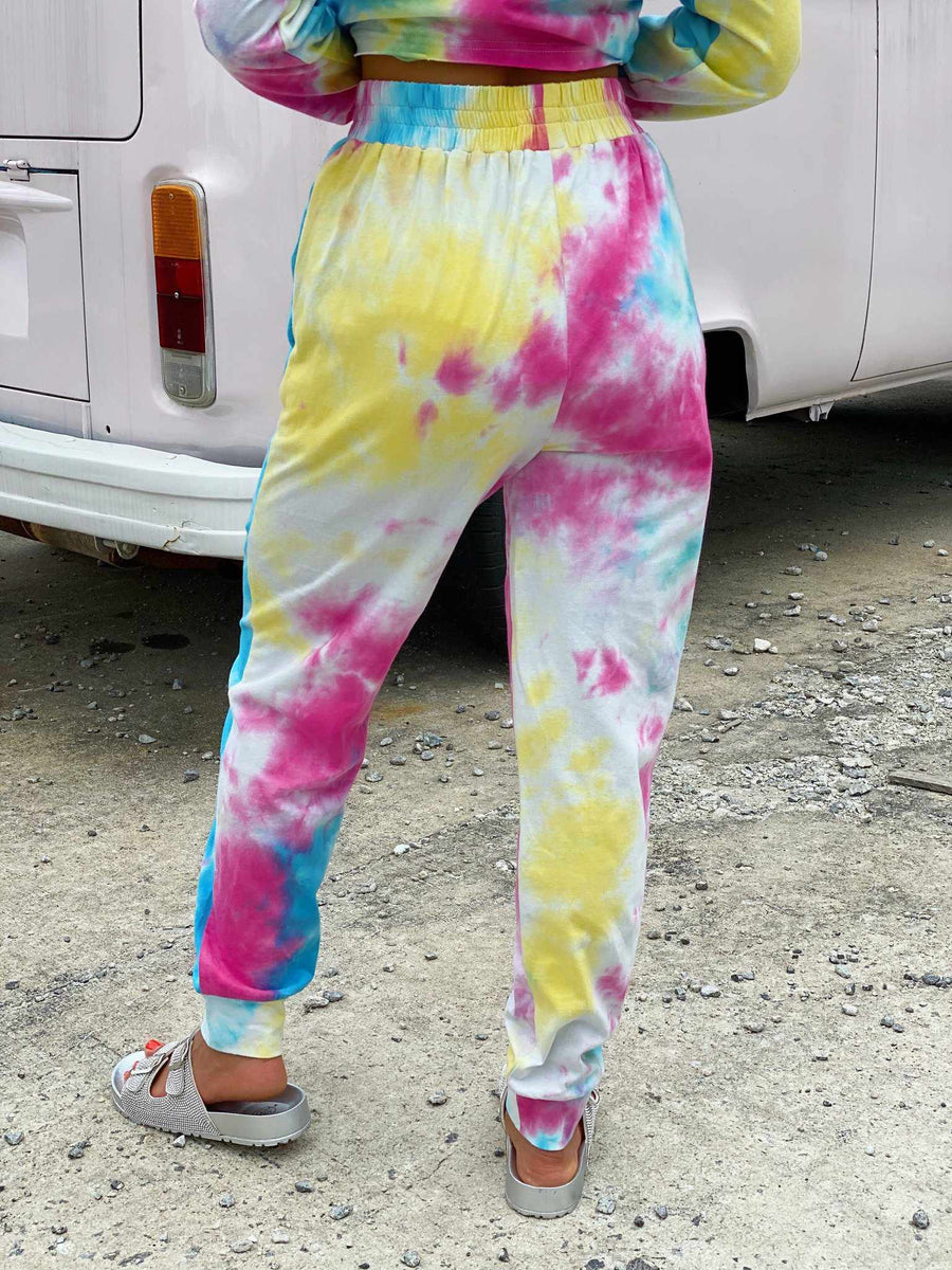 Bright Tie Dye Lounge Joggers-Southern Fried Chics
