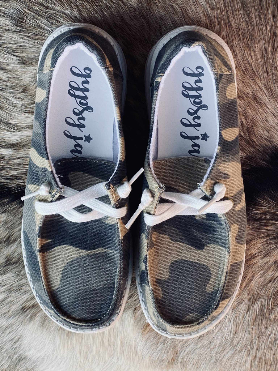 Horray Slip on Loafer - Green Camo-Southern Fried Chics