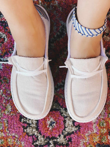 Poppy Slip on Loafer - Cream-Southern Fried Chics