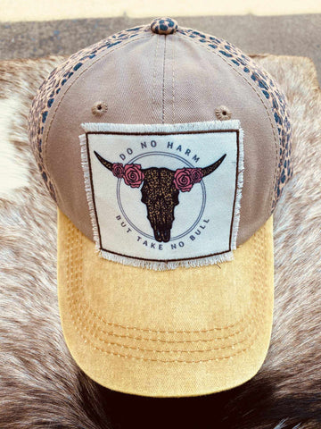 Do No Harm Leopard And Mustard Hat-Southern Fried Chics