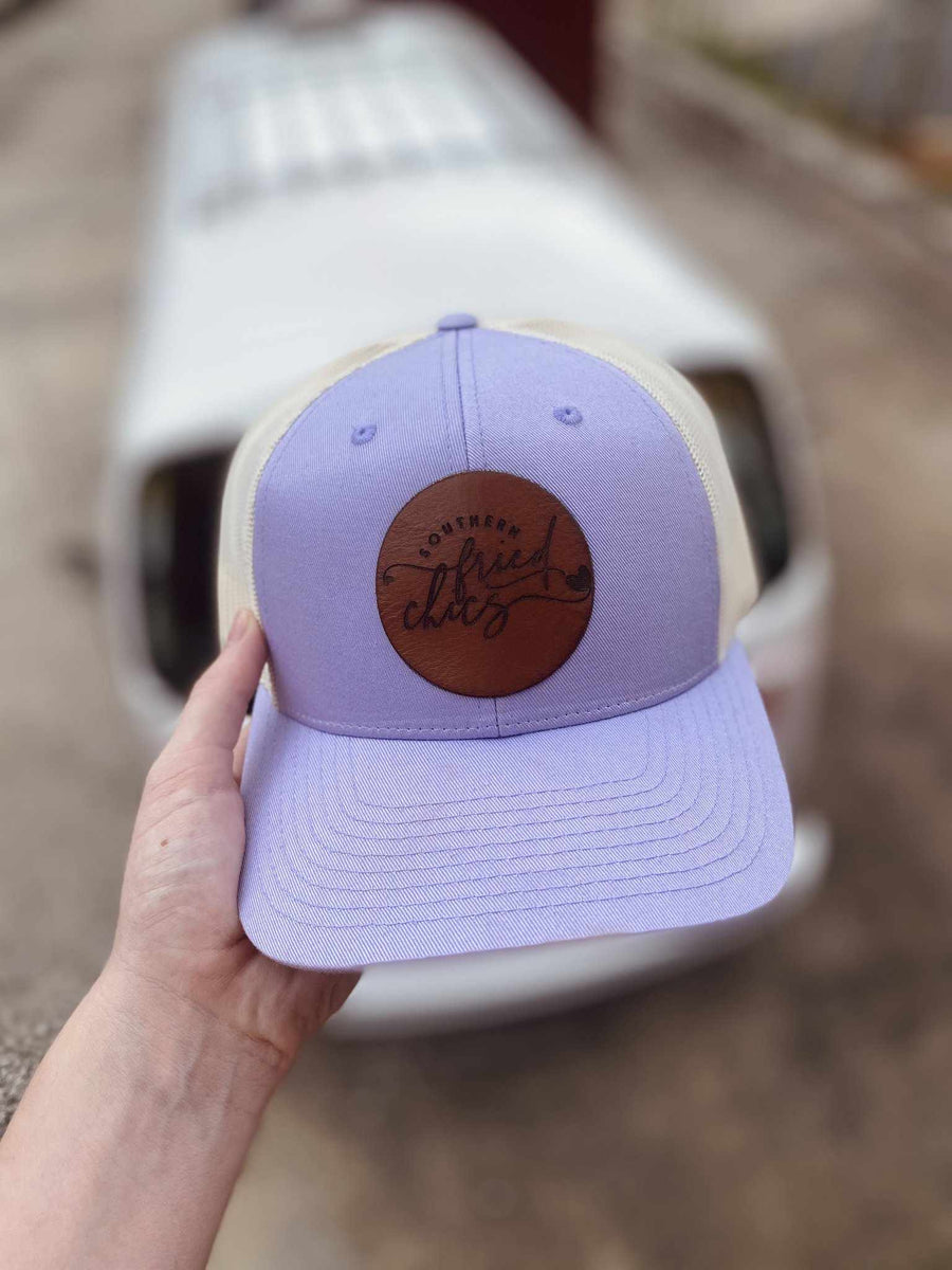 SFC Leather Patch Logo Hat - Lavender-Southern Fried Chics
