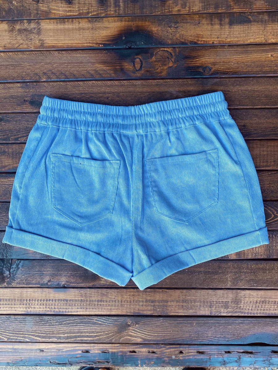 Corduroy Shorts - Baby Blue