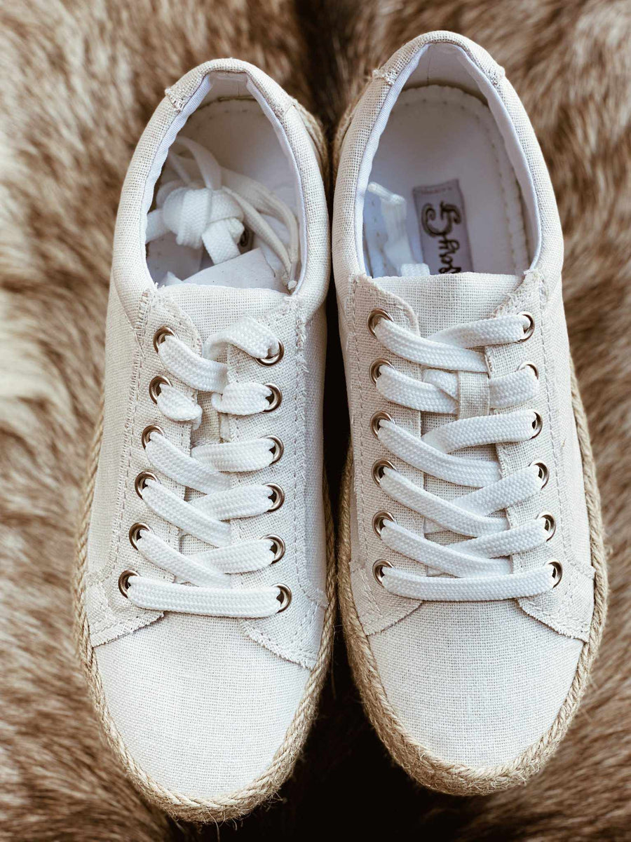 Maria Elena Sneaker Platform - White-Southern Fried Chics