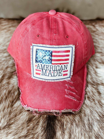 American Made Flag Patch Hat