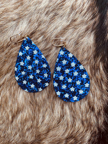Star Spangled And Sparkling Earrings-Southern Fried Chics