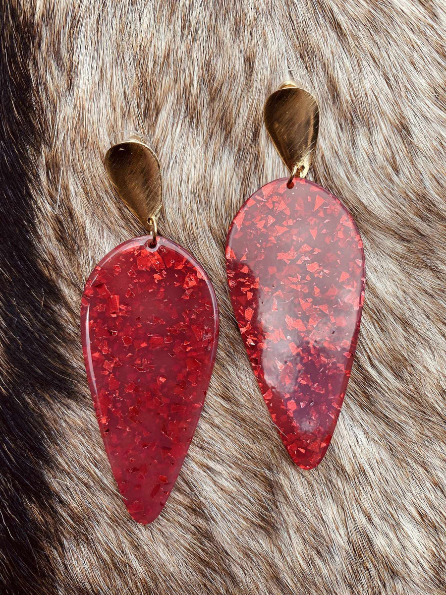 Drop of Perfection Earrings - Scarlet