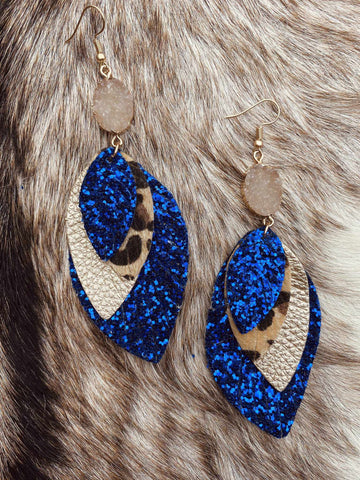 Perfect Trio Earrings - Royal Blue