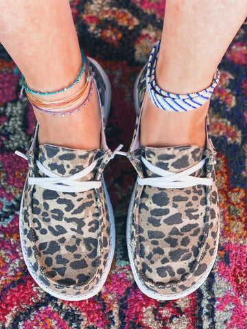 Holly Leopard Slip On Loafer-Southern Fried Chics