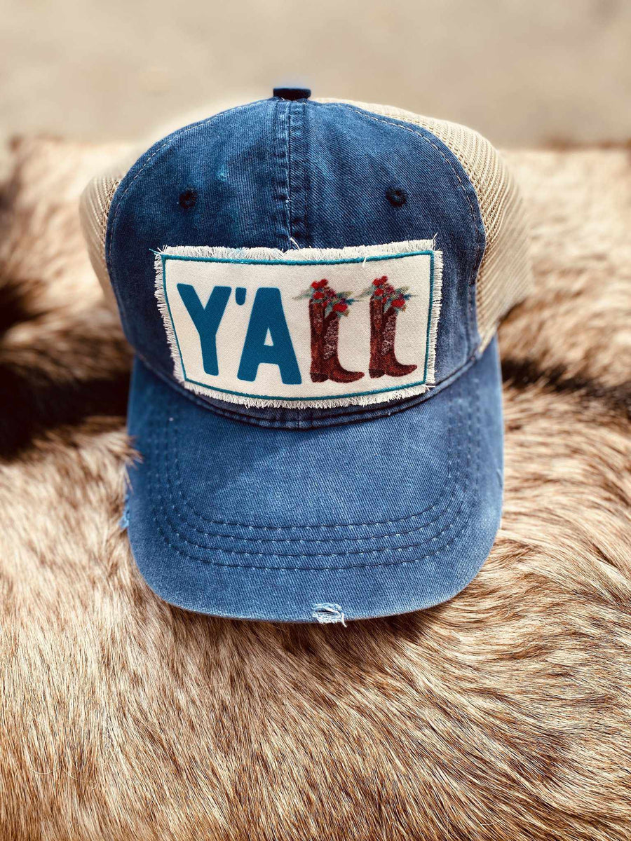 Yall Boots Patch Hat - Navy