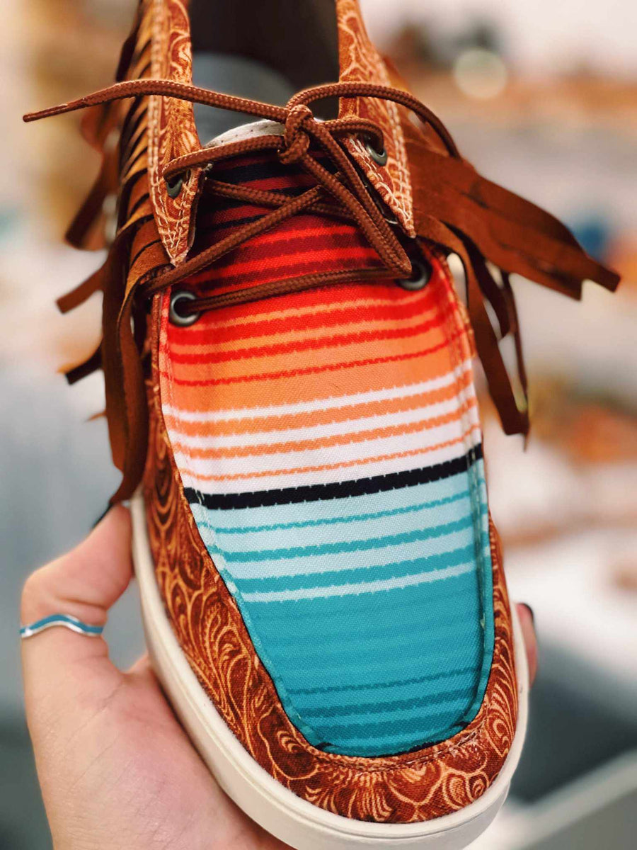 Desert Dreamin Fringe Sneakers - Aztec-Footwear-Southern Fried Chics