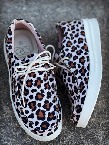 Wild Side Sneaker - Leopard-Footwear-Southern Fried Chics