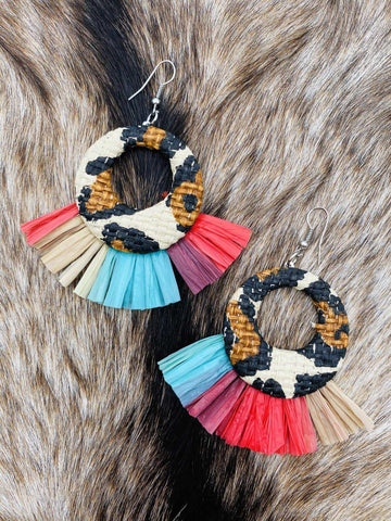 Your Biggest Fan Leopard Hoop Earrings-Southern Fried Chics