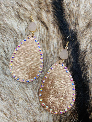 Mixing It Up Earrings - Rose Gold-Southern Fried Chics