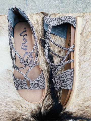 Destiny Sandal - Grey Leopard-Southern Fried Chics