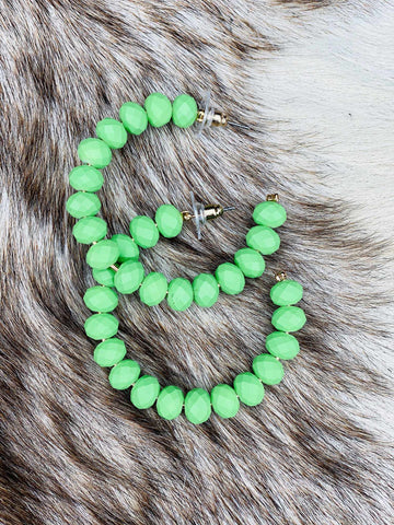 The Essential Hoop Earring - Neon Lime-Southern Fried Chics