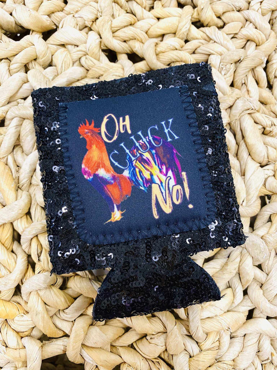 Oh Cluck No Koozie - Black-Southern Fried Chics