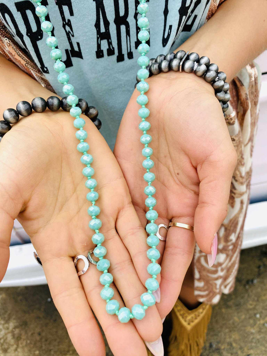 The Essential Double Wrap Necklace - Turquoise-Southern Fried Chics