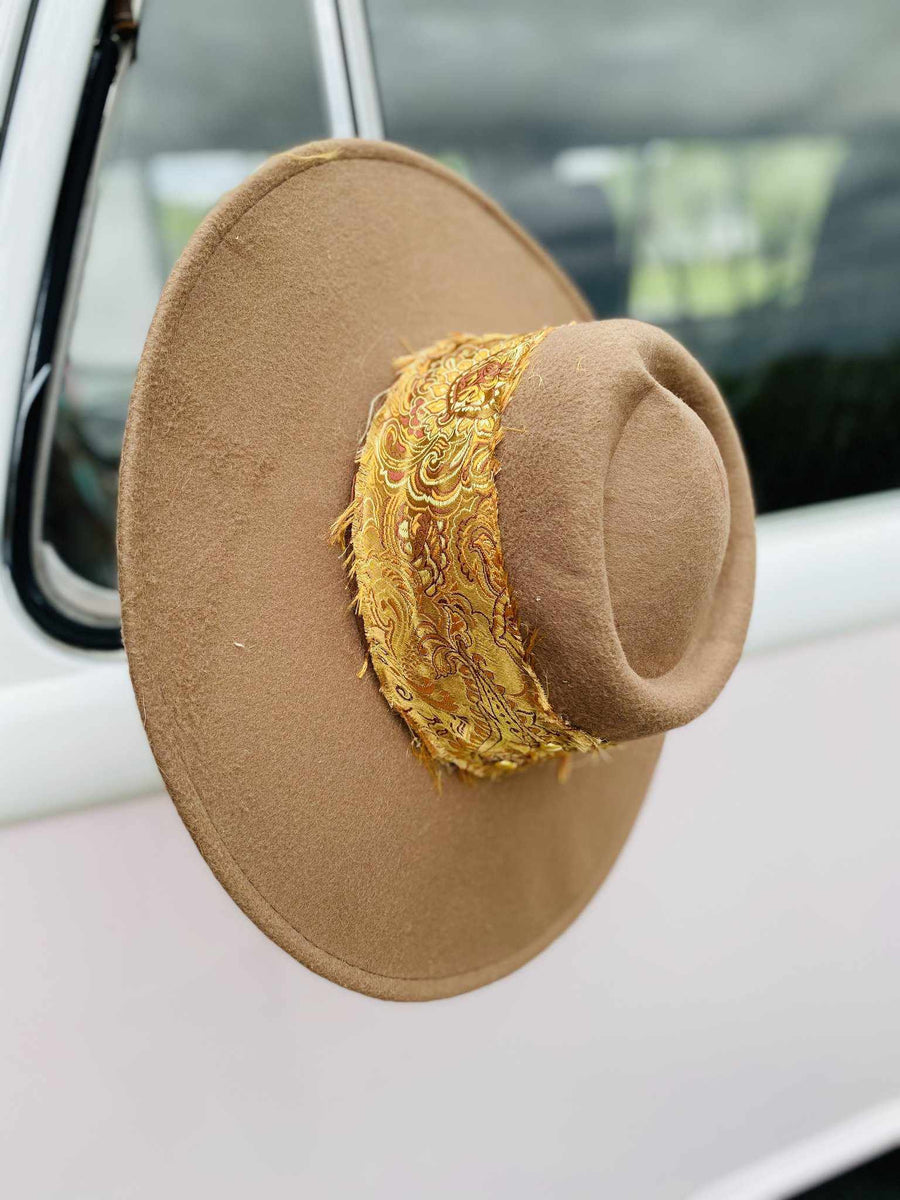 The Coachella Wide Brim Hat - Khaki-Southern Fried Chics