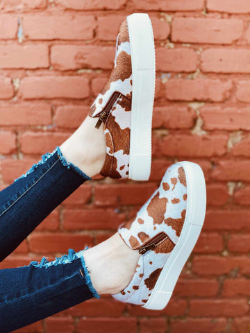 SFC Dixie Cowhide Sneakers - Brown-Southern Fried Chics